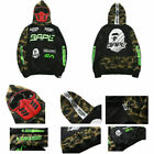 Men Bathing Ape Bape Shark Zipper Hoodie Sweats Coat Jaw Women Jacket Black 2020