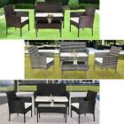 2021 OSHION RATTAN GARDEN FURNITURE SET CHAIRS SOFA TABLE OUTDOOR PATIO SET UK