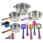 Mainstays Iridescent Stainless Steel 10-Piece Cookware Set, With Kitchen