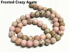 15inch strand round gemstone frosted beads-pls pick a stone