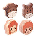 Cartoon Style Baby Tooth Keepsake Wooden Box Hair Teeth Save Container Box