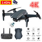 Drone WIFI 4K Dual Camera 2 Battery Foldable Selfie RC Quadcopter Gifts Toys