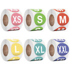 500Pcs/Roll 2.5cm Colorful Round Clothing Size Sticker Labels Adhesive Mark Tags
