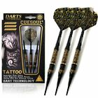 CUESOUL TATTOO 17g Brass Soft Tip Darts Black Coated with Unique Pattern
