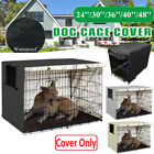 Dog Kennel House Cover Waterproof Dust-proof Oxford Pet Cat Cage Case Protective