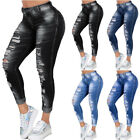 Plus Sizes Women's Ripped Skinny Jeans Summer Jeggings Pants Wash Denim Trousers