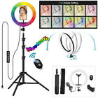 "10"" LED Ring Fill Light Studio Photo Video USB RGB Dimmable Lamp Selfie Portable"