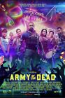 Army of the Dead (2021) Dave Bautista Ella Purnell Zack Snyder Movie Poster NEW