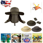 Boonie Snap Hat Hiking Fishing Hat Outdoor Neck Cover Sun Protection Flap Cap