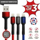 USB Charger & Data Sync Charging Cable Lead For iPhone 12,11,XR,7,8 IPAD...
