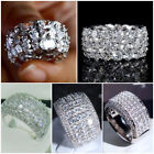 5 Style Gorgeous Cubic Zirconia Rings 925 Silver Women Jewelry Gifts Size 6-10