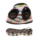 Adjustable Comfortable Dog Leather Harness Leash Set Traction Rope for Dogs