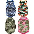 Camouflage Pet Shirt Clothes Spring Summer Cotton Dog Puppy Vest Outfit