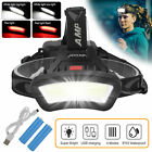 LED Headlamp Flashlight Rechargeable Head Band Torch Waterproof Camping COB Lamp