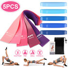 5/10 Resistance Exercise Band Loop Set Fitness Leg Yoga Strength Workout Pull Up