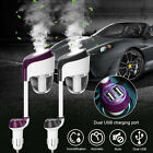 Car Air Humidifier Diffuser Aroma Essential Oil 360° Rotation Dual USB Charger