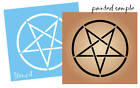 STENCIL Celtic Pentagram Circle Shape Star Halloween Witch Decor Art You Paint