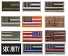 USA Military American Flag Morale Patch with Hook Backing