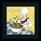 Salad Chef Kitchen Fresh Vegetables Art Print Framed