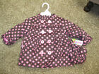 Baby Toddler Girl Al & Ray Brown Pink Polka Dot Jacket Coat 12 18 24 months new