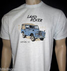 LAND ROVER Series 3 T-SHIRT - Ash Grey or Natural - SIII - Available in 5 sizes