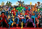 New Poster Print - Marvel Comics Characters *BUY ONE GET ONE FREE*  (A3/A4)