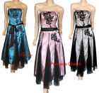 New Cocktail Evening Dress Black Pink Size 8 10 12 14
