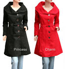 Princess Charm Size 8 10 12 14 16 18 20 22 Black Red Jacket Coat Women New