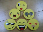 4 LARGE NOVELTY SMILEY FACE ERASERS RUBBERS 4.5cm UK