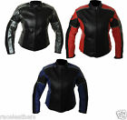 NEW RK / FIGO KATRINA LADIES LEATHER MOTORCYCLE JACKET