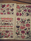 LARGE SHEET GIRLS LADIES TEMPORARY TATTOOS HEARTS WORDS BUTTERFLIES BANDS 10-20