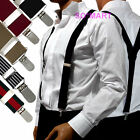 "Mens Men Man Braces adjustable Elastic clip-on Suspenders "" Y "" Shape"