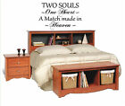 Two Souls One Heart Made in Heaven Vinyl Wall Art Words Decals Stickers Decor