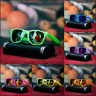 NEW MENS NEON SUNGLASSES RETRO TRENDY GEEK NERD FUN SHADES MIRROR LENS 6 COLOR