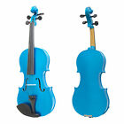 Mendini Student Violin Package in 7 Finishes & 8 Sizes +Case+Bow+Extra Strings