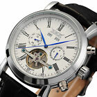 Men's Leather Automatic Mechanical Fashion Date Day Sport Wrist Watch