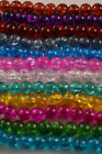200 X 4mm Crackle Glass Beads Jewellery Craft Making Diy Wedding Fishing Dress