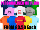 CUSTOM PRINTED PERSONALISED T-SHIRTS TEE SHIRT STAG HEN CHARITY RUN FREE UK POST