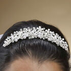 Wedding Tiara Hair Comb with Pearls and Swarovski Crystals 087H Bridal Accessory