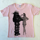 Baby pink Forbidden Planet Robby Robot ladies medium size Tshirt mod scifi cult