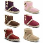 Ladies Coolers Warm Microsuede Toggle Womens Slipper Boots Size UK 3 4 5 6 7 8