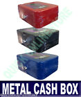"""6"""" METAL CASH BOX MONEY PETTY CASH SECURITY BOX HOME SAFE WITH KEY NEW"""