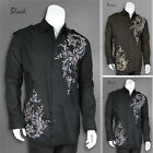 Men's Stylish Casual Fashion Shirt  Black/Brown    M L XL 2XL 3XL 4XL