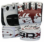 Authentic RDX Leather Gel Tech MMA UFC Grappling Gloves Fight Boxing Punch Bag V