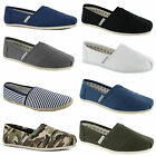 New Mens Canvas Plimsolls Slip On Plims Espadrilles Trainers Shoes Size UK 6-11