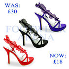 New Ladies Stiletto High Heel Bridal Evening Party Sandals Sizes UK 3 4 5 6 7 8