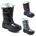 New Ladies Womens Snow Winter Ski Rain Resistant Furry Boots Size UK 3 4 5 6 7 8