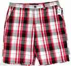 Southpole Shorts New $46 Red Plaid Mens Big & Tall Choose Size