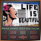 ' Life is Beautiful '  Banksy Art Canvas More Color & Style & Size