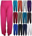 WOMENS PLAIN TROUSERS LEGGINGS LADIES NEW STRETCH HAREM PANTS PLUS SIZE 12 - 26